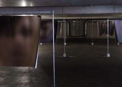 ondergronds tentoongesteld